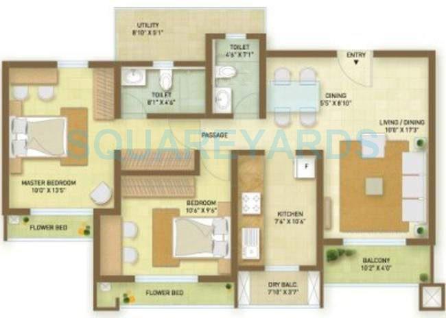 indiabulls greens apartment 2bhk 1172sqft1