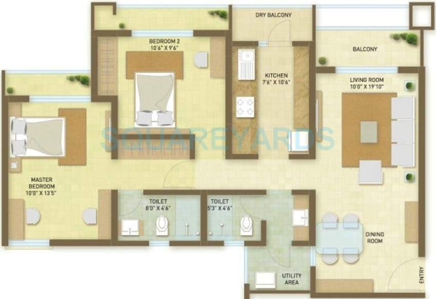 indiabulls greens apartment 2bhk 1246sqft1