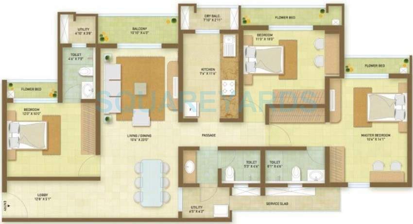 indiabulls greens apartment 3bhk 1726sqft1