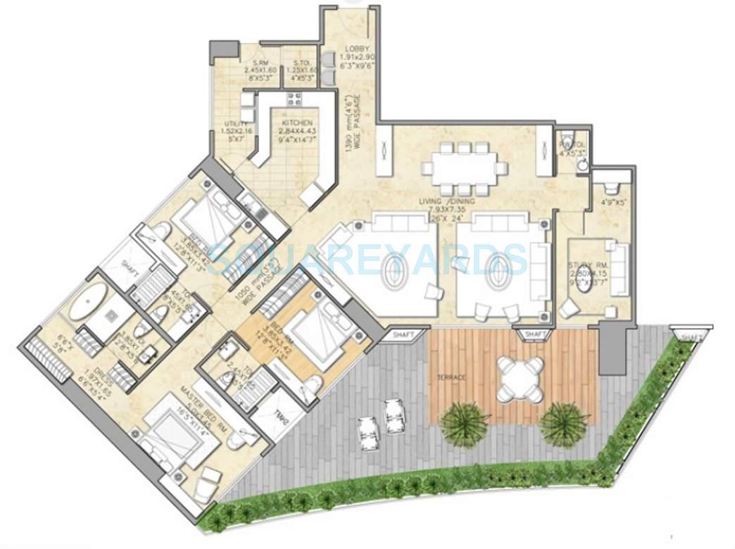indiabulls sky apartment 3bhk 3700sqft1