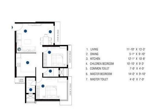 je and vee madhuban apartment 2bhk 653sqft 1
