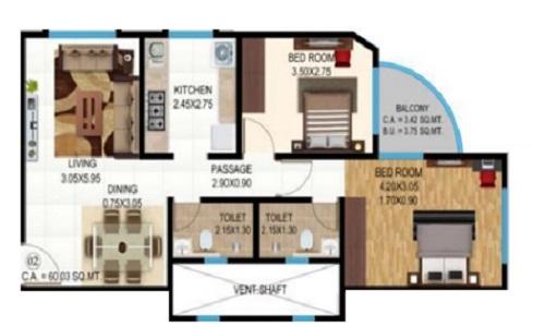je and vee vrindavan apartment 2bhk 712sqft 1