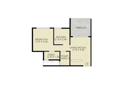 jindal residency apartment 1bhk 309sqft31
