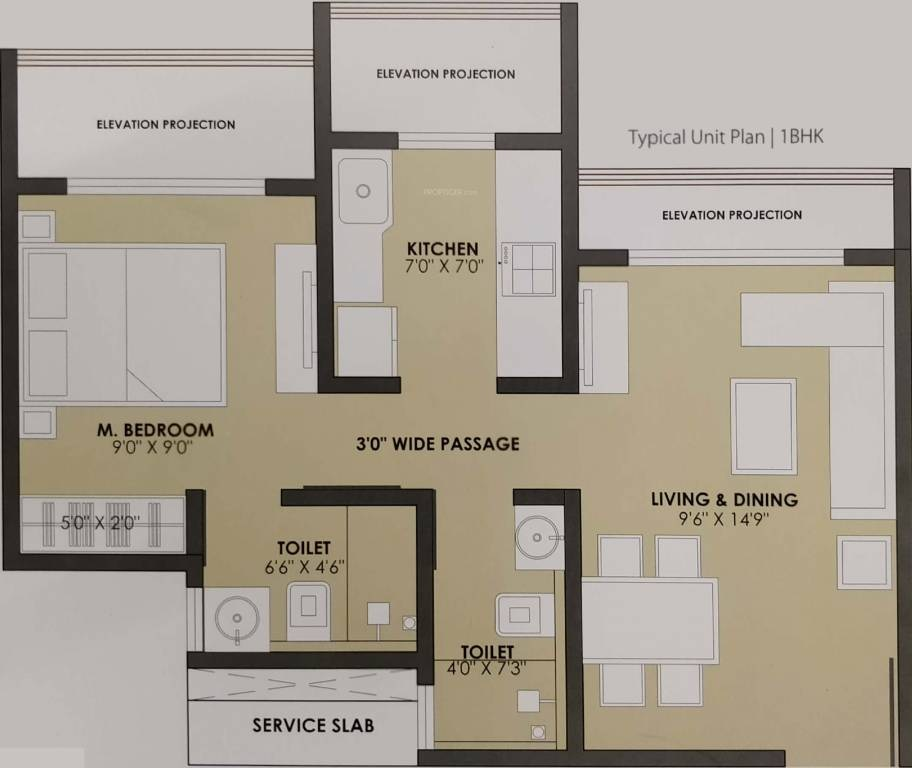 jp north apartment 1bhk 455sqft 191