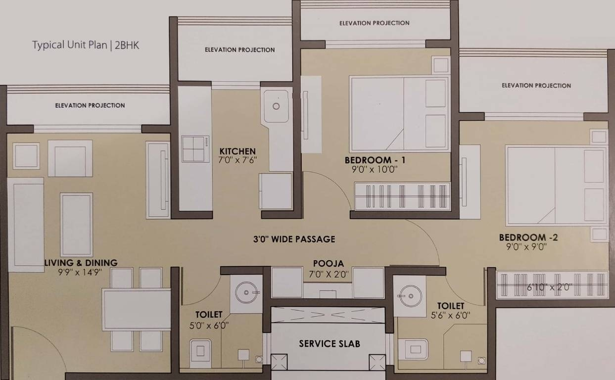 jp north apartment 2 bhk 535sqft 20213023123042