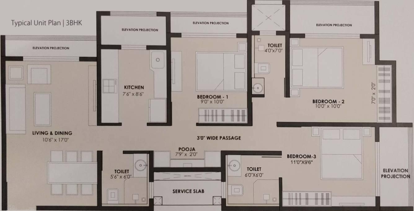 jp north apartment 3 bhk 900sqft 20213423123436