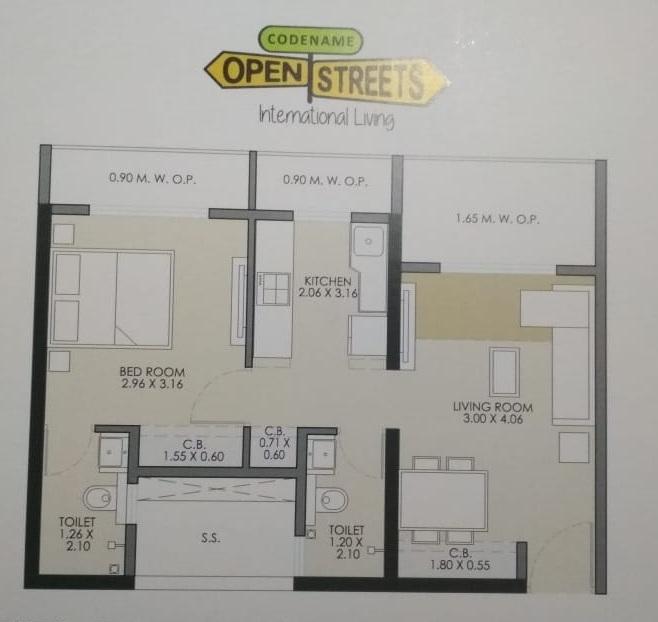 jp north barcelona apartment 1 bhk 557sqft 20215012155004