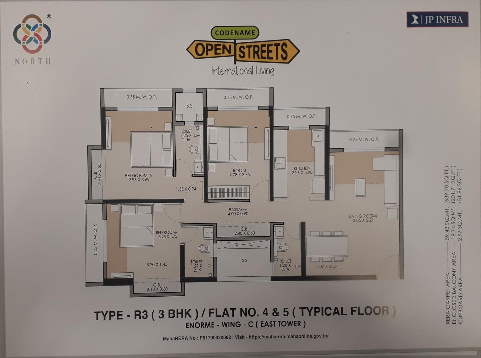 jp north barcelona apartment 3 bhk 981sqft 20214512154557