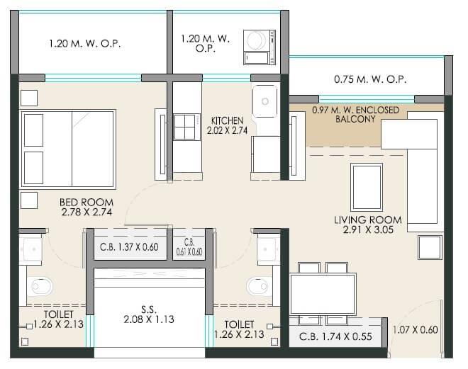 jp stand tall apartment 1 bhk 455sqft 20212228182212