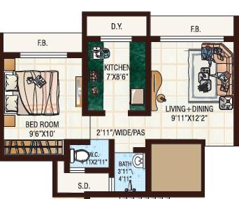 jvm tiara apartment 1bhk 464sqft 1