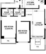 k raheja raheja classique apartment 2 bhk 1000sqft 20214405114423