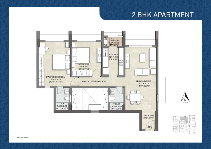 kalpataru imperia apartment 2bhk 832sqft 1