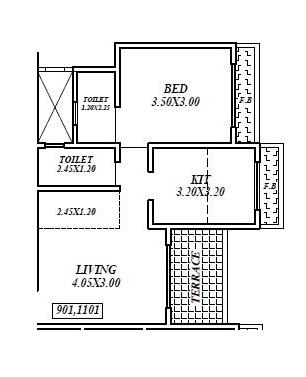 kalyan mangeshi dazzle ii apartment 1 bhk 428sqft 20200013120003