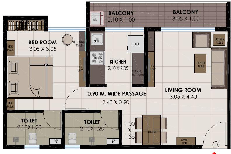 kamdhenu gardenia apartment 1bhk 700sqft 1