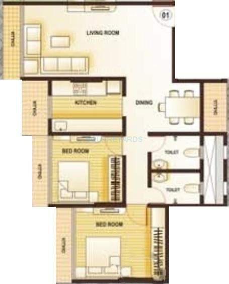 kamla aquina apartment 2bhk 1115sqft1