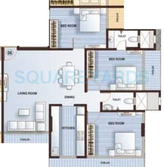 kamla aquina apartment 3bhk 1525sqft1