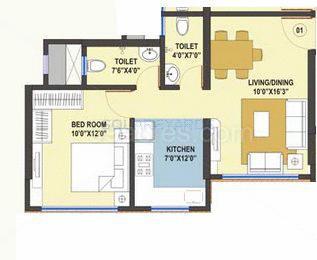 kamla white orchid apartment 1bhk 725sqft1