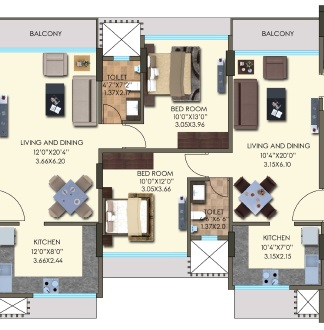 kanakia hollywood versova apartment 2bhk 1173sqft 41
