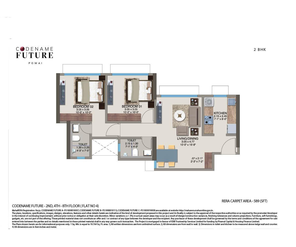 kanakia pixel apartment 2bhk 589sqft 1