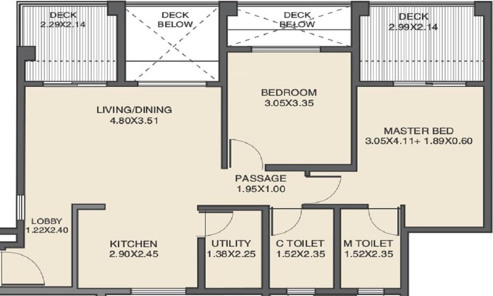 kanakia spaces country park apartment 2 bhk 820sqft 20214203144225