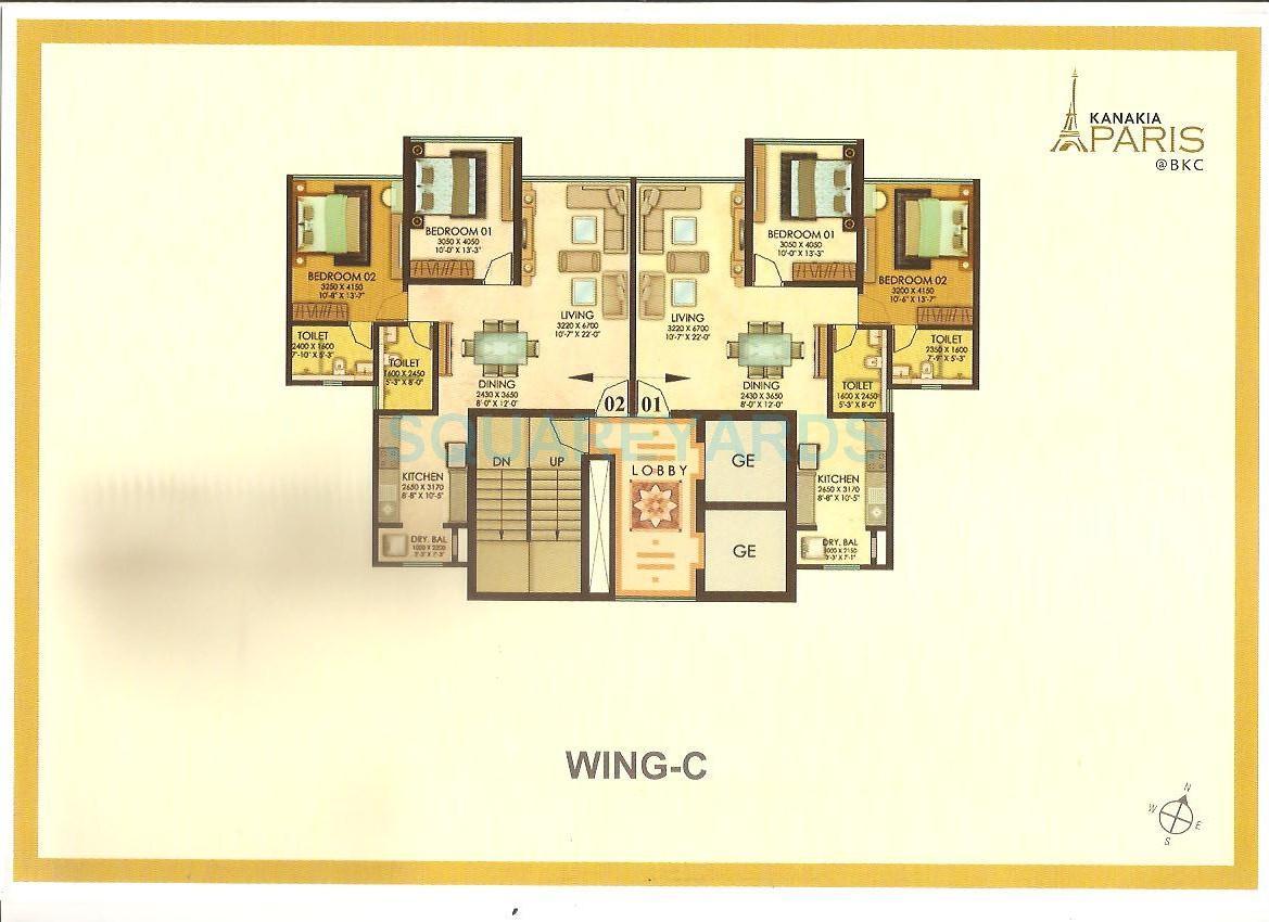 kanakia spaces paris apartment 2bhk 1114sqft 1