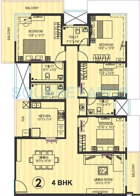 kanakia spaces platino apartment 4bhk 1584sqft 1