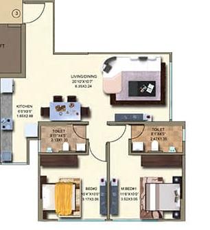 kanakia spaces rainforest apartment 2bhk 698sqft 20205320125348