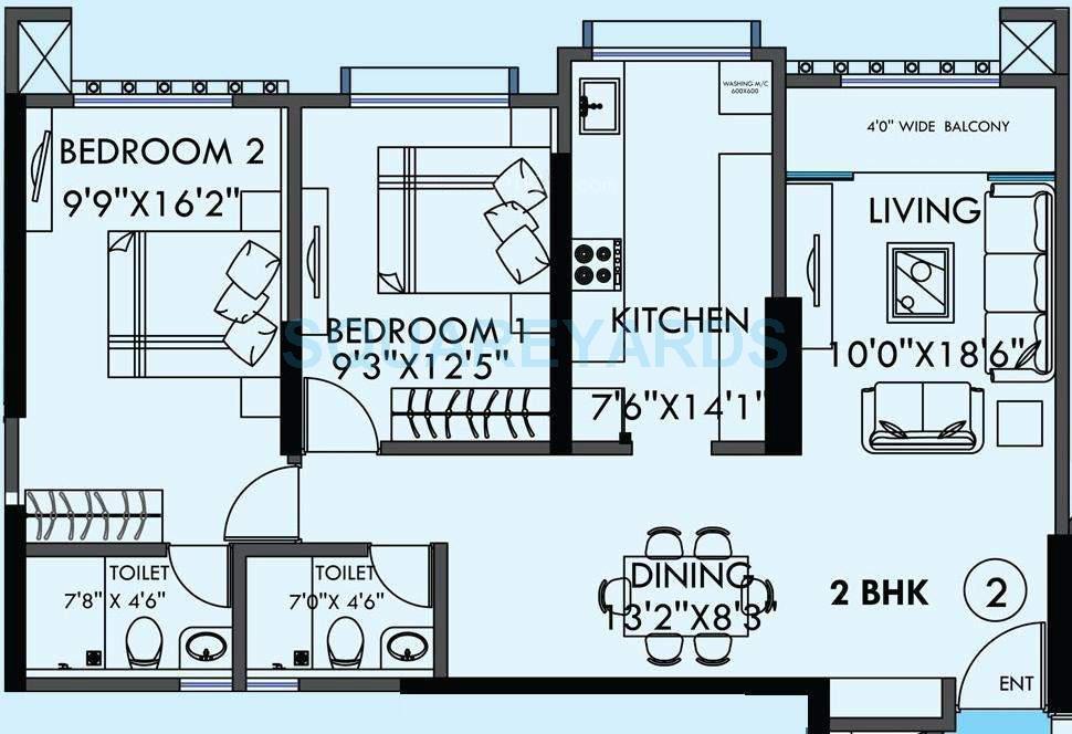 kanakia spaces sevens apartment 2bhk 1350sqft1