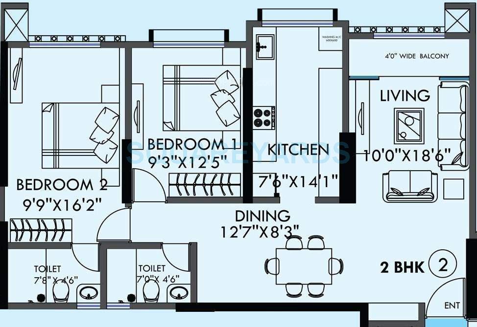 kanakia spaces sevens apartment 2bhk 1375sqft1
