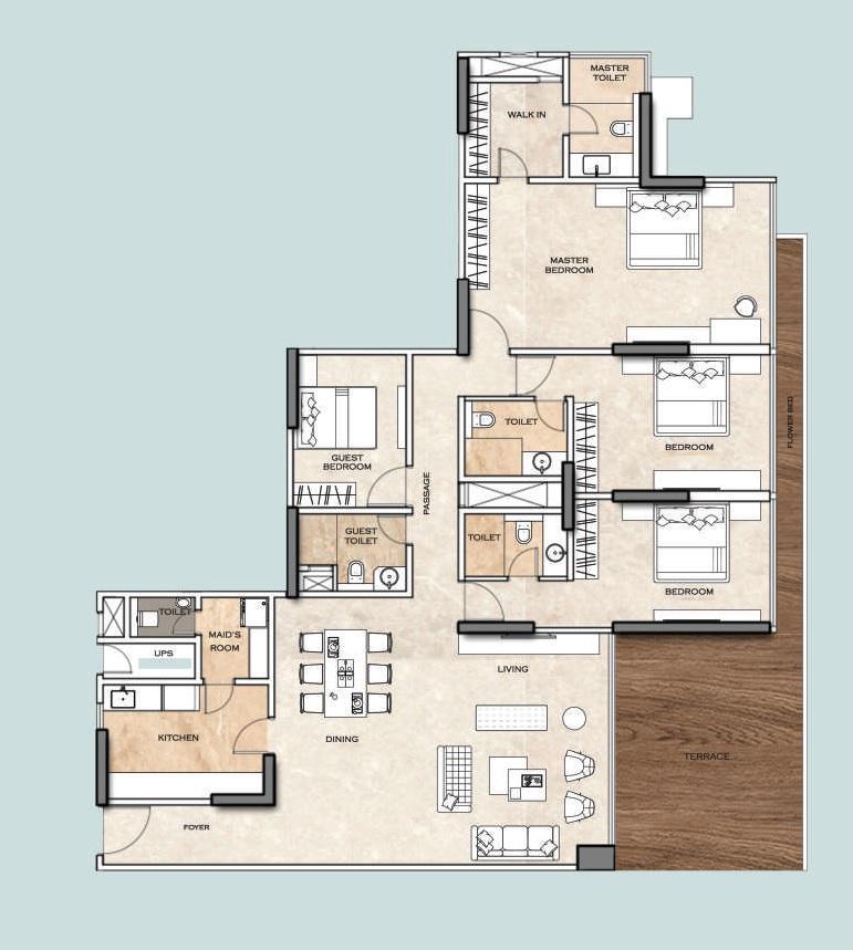 kohinoor square altissimo apartment 3 bhk 1803sqft 20213007123049