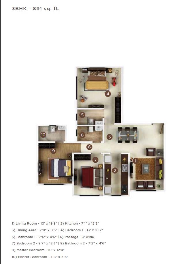 kolte patil jay vijay apartment 3bhk 891sqft 1