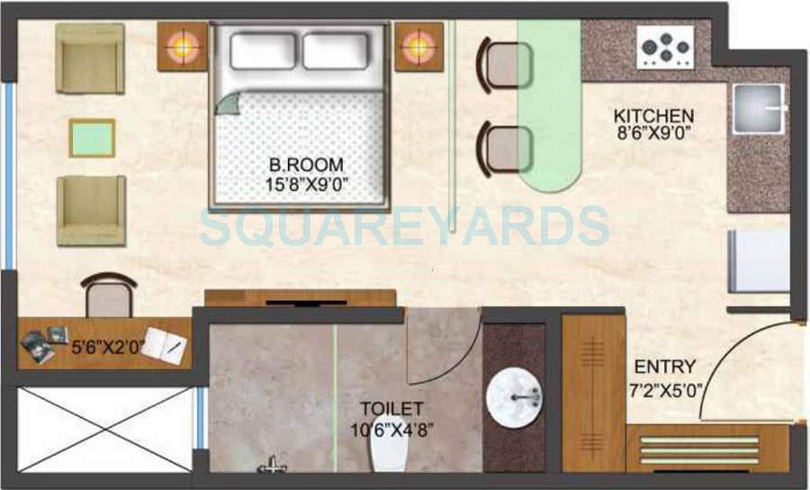 kumar urban kul palladio apartment 1bhk 518sqft1