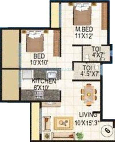 lakhani la riveria apartment 2bhk 1130sqft1