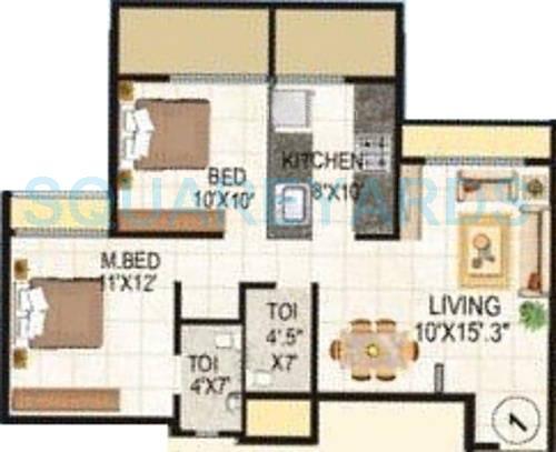 lakhani la riveria apartment 2bhk 1160sqft1