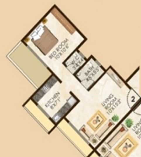 lakhani la riviera apartment 1 bhk 695sqft 20204607184601
