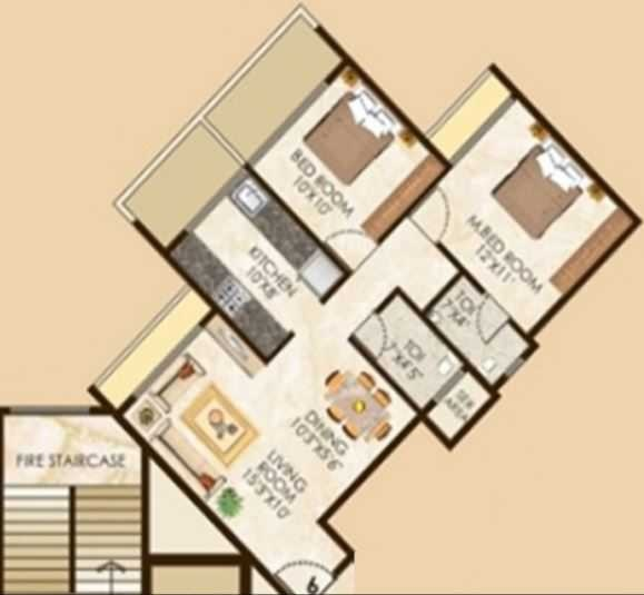 lakhani la riviera apartment 2 bhk 1130sqft 20204707184726