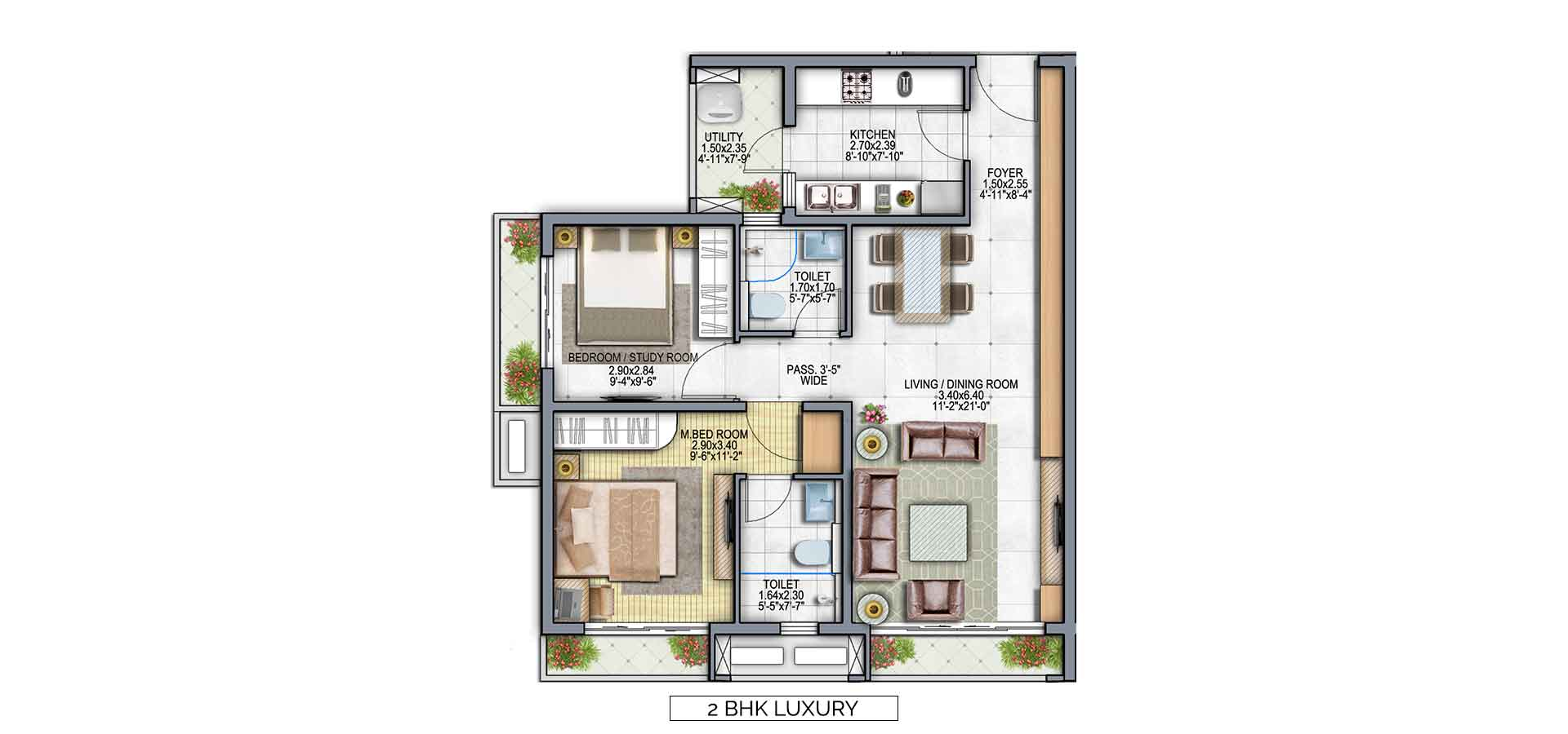 leading frontier the icon apartment 2bhk 755sqft 1
