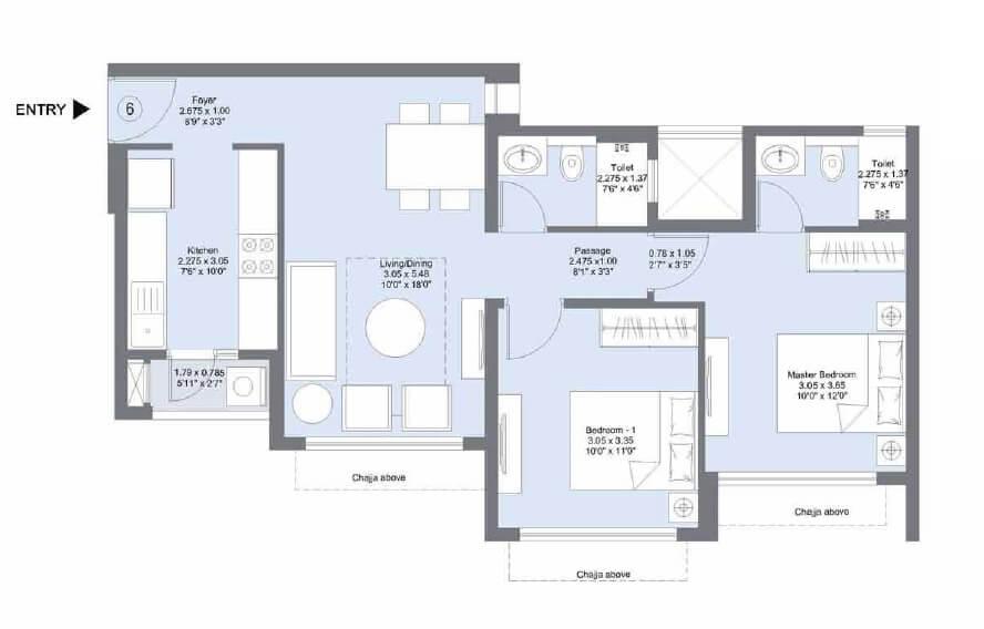 lnt emerald isle phase ii apartment 2bhk 644sqft 1