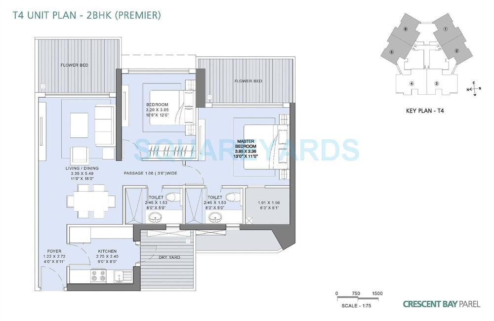 lnt realty crescent bay apartment 2bhk 1320sqft1