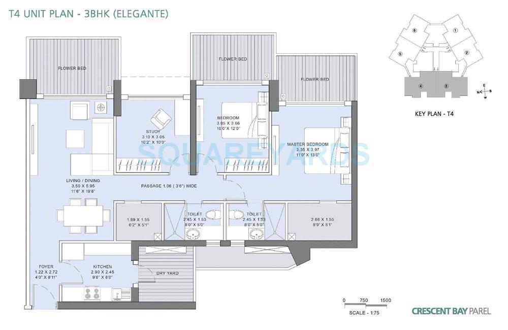 lnt realty crescent bay apartment 3bhk 2275sqft1