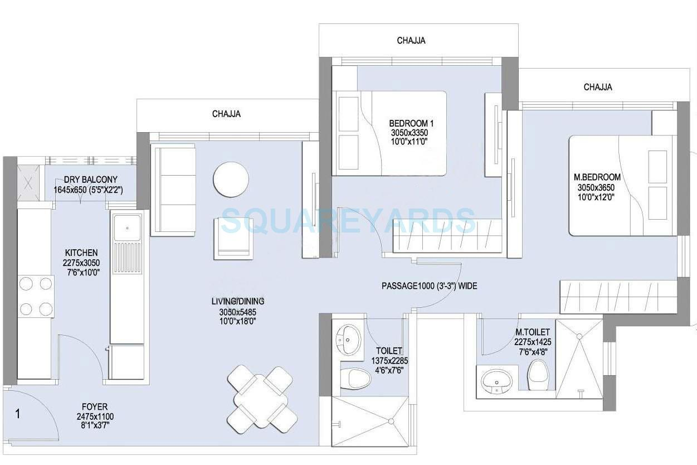 lnt realty emerald isle apartment 2bhk 985sqft1