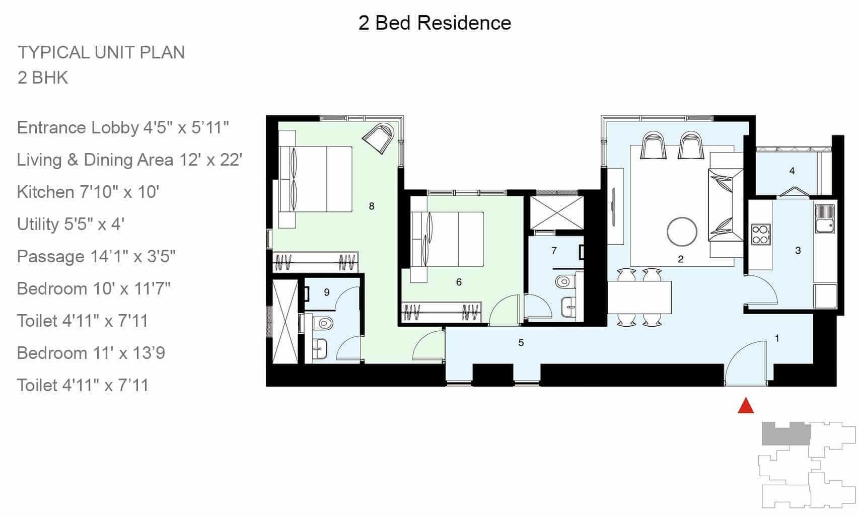 lodha allura apartment 2bhk 892sqft 1