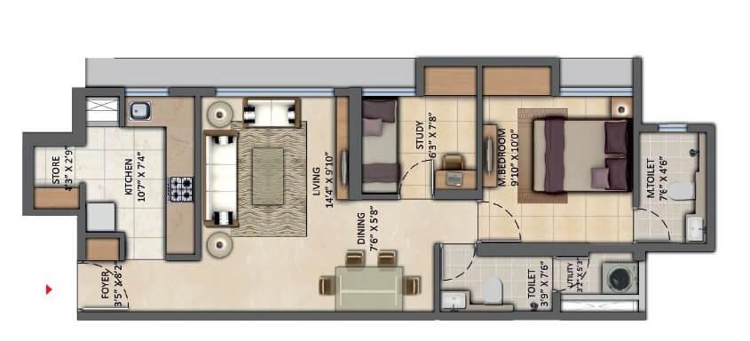 lodha amara apartment 2bhk 586sqft 1