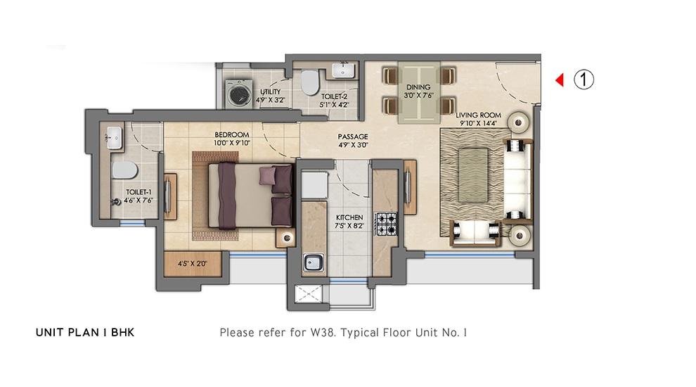 lodha amara tower 38 and 39 apartment 1bhk 438sqft41