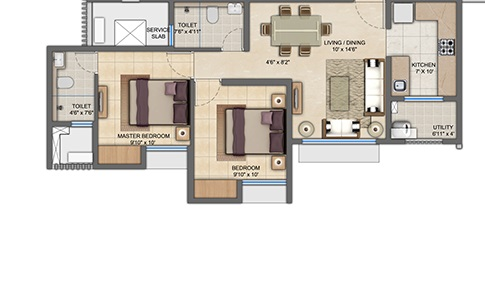lodha anjur upper thane apartment 2bhk 650sqft 61