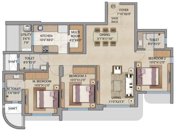 lodha bel air apartment 3bhk 1098sqft 1