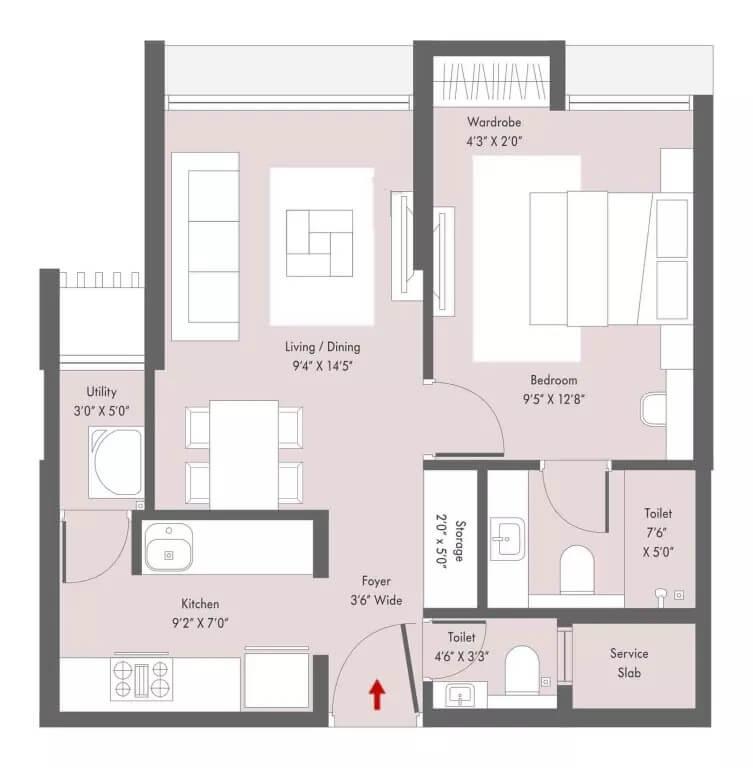 lodha casa viva apartment 1bhk 454sqft 1