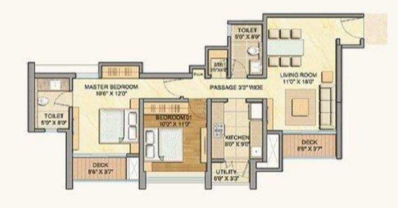 lodha celestia apartment 2 bhk 1275sqft 20203524153531