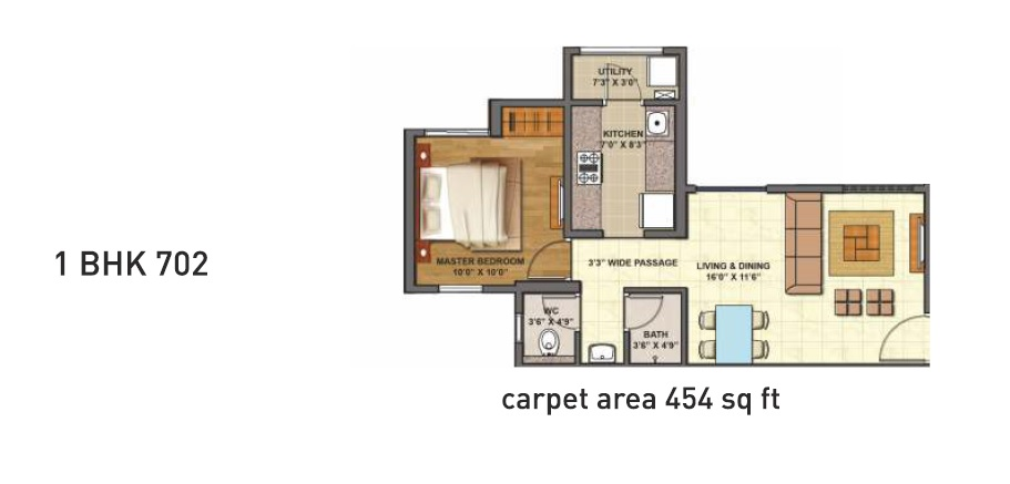 lodha codename epic apartment 1bhk 702sqft 1