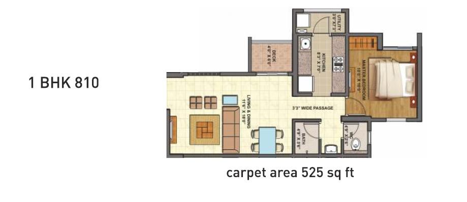 lodha codename epic apartment 1bhk 810sqft 1